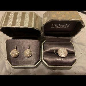 Jewelry - Cubic Zirconia ring & earrings